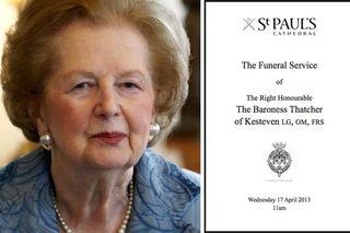 Margaret-Thatcher-and-the-order-of-service-for-her-funeral