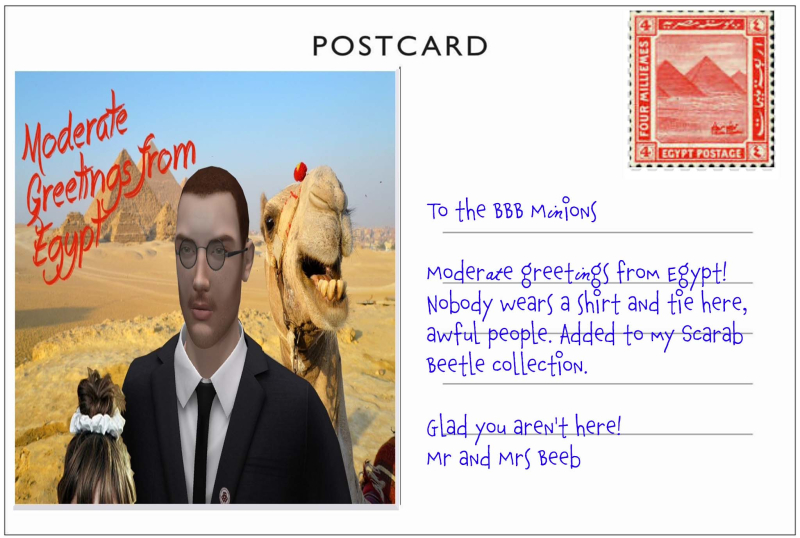 Mr Beeb Postcard Egypt (1)